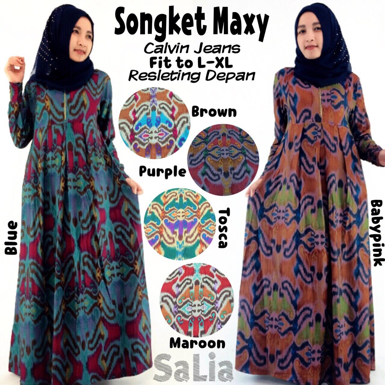 Songket Maxi Www Tokogrosirfashion Com