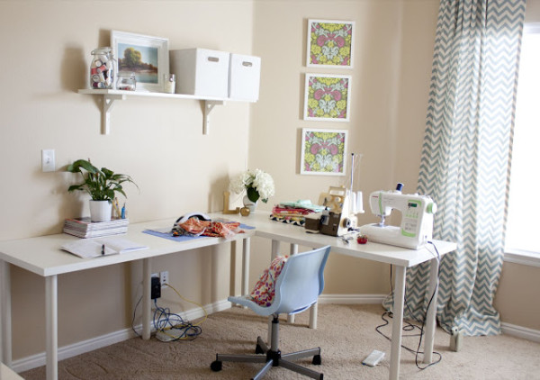 simple sewing room design ideas