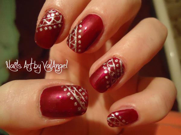 Valangel nails art nail art chic bordeaux - Nail art chic ...
