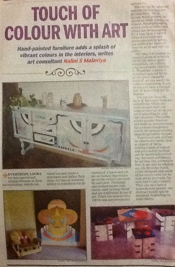 Article published in The Times of India-The Address, Bangalore