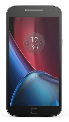 Moto G4 Plus display with square fingerprint scanner
