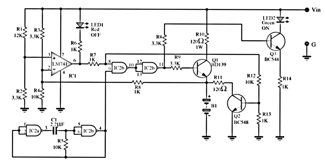 circuit diagram of dry cell charger