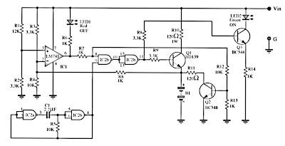 Automatic accu charger schematics