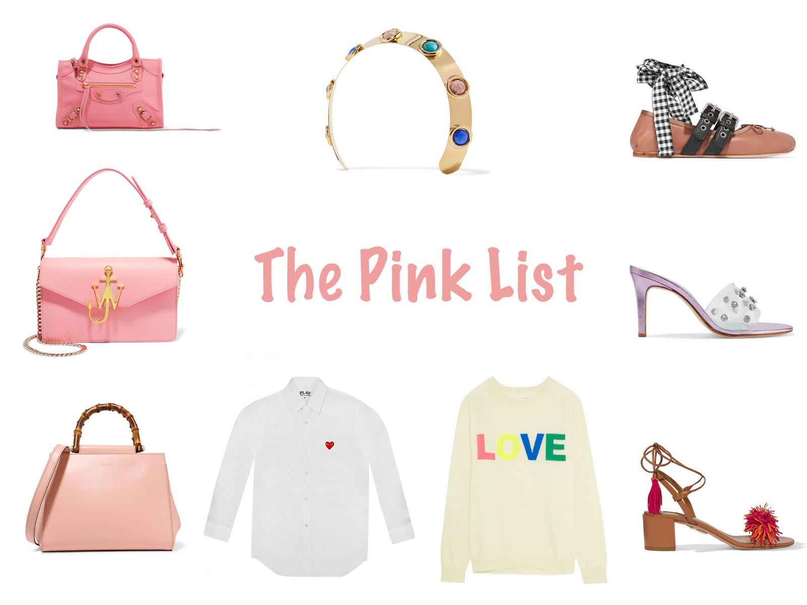 The Pink List || April 2017