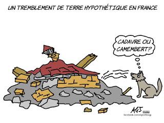 cherlie hebdo, vignette, terremoto, francia, satira, vignetta