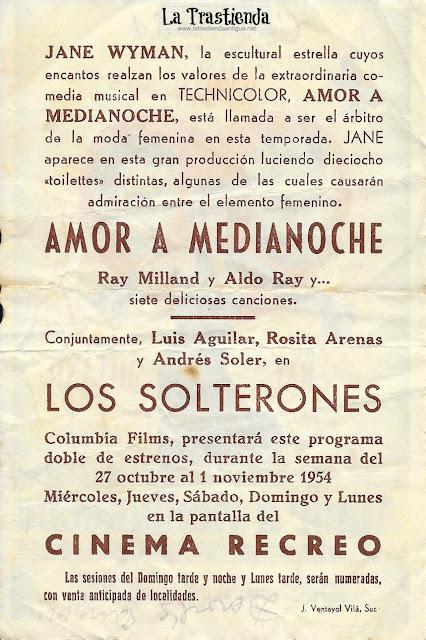 Amor a Medianoche - Programa de Cine - Jane Wyman - Ray Milland