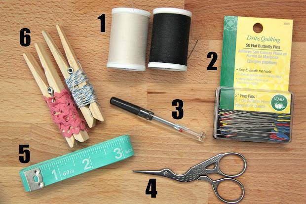 Diy Beginner Sewing Kit Idea-tutorial - Smashed Peas & Carrots