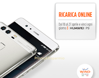 Logo Con Wind vinci ogni giorno 3 Smartphone Huawei P9