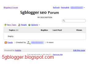 adding free forum in blogspot