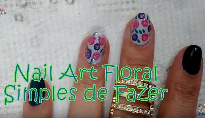 nail art floral, unhas artísticas, unhas decoradas, unhas floral, tutorial,