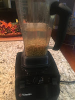 Photo of Vitamix blender with soaked soybeans and water in it. https://trimazing.com/