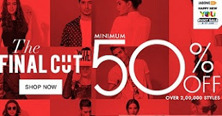 Jabong: Min 50% Off + Extra 10% Off on Men's / Women's Clothing & Footwear