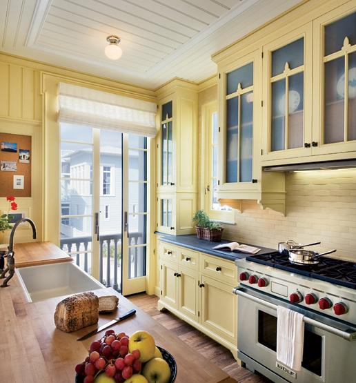 Kitchens With Butter Yellow Colored Cabinets