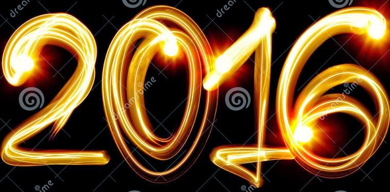 Happy New Year 2016 3D Text Images for Pinterest