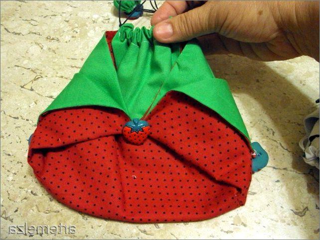 Unusual bag in Japanese style