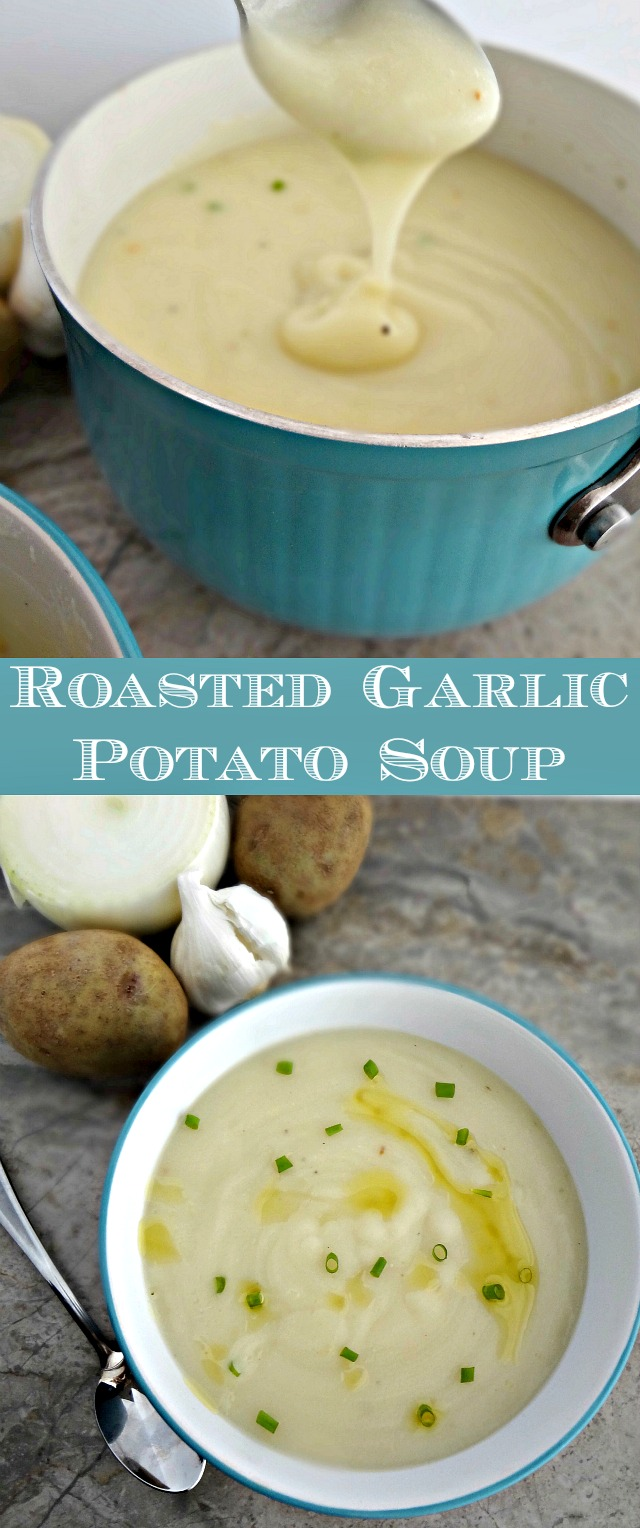 Roasted Garlic Potato Soup