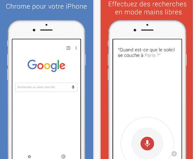 Google Chrome pour iPhone et iPad