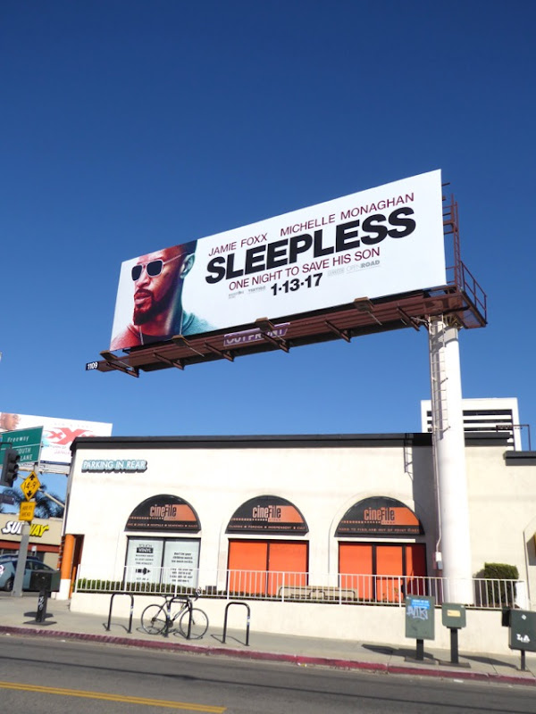Sleepless film billboard