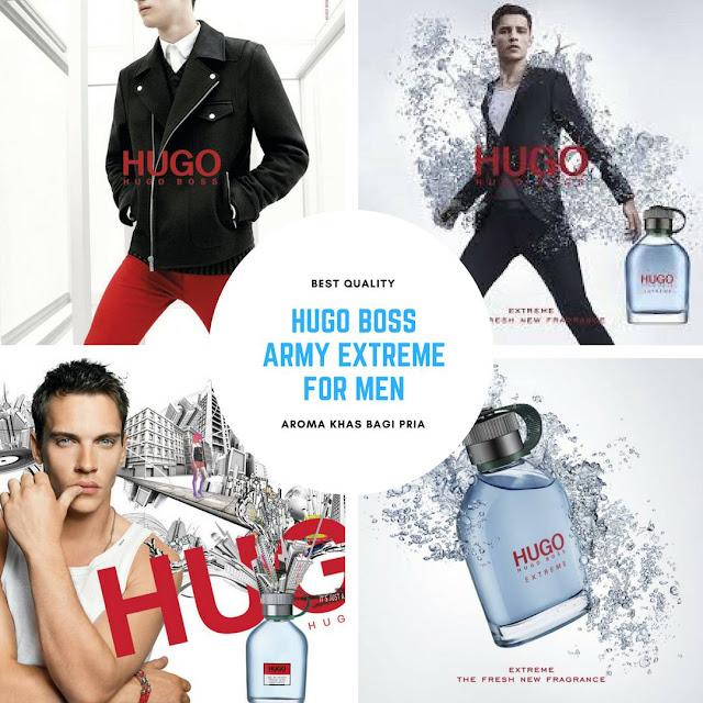 Hugo Boss Army Extreme for Men menumbuhkan rasa semangat, modern dengan twist dingin, dibuat untuk menginspirasi apa pun yang Anda lakukan