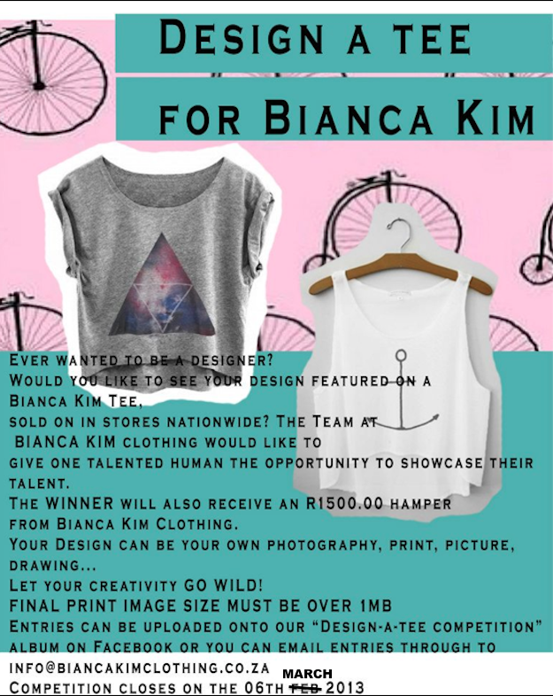 Design A Tee for Bianca Kim Clothing