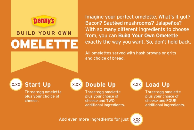 news denny s new build your own omelette menu brand eating