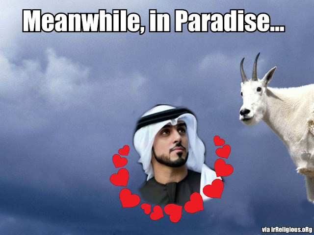 Meanwhile In Paradise | Funny Muslim Heaven Meme Picture