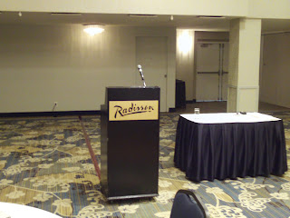 Presentation room on Executive Speech Coach blog