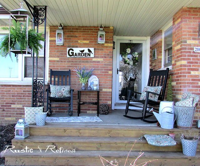 Decorating a small porch with big style for Spring