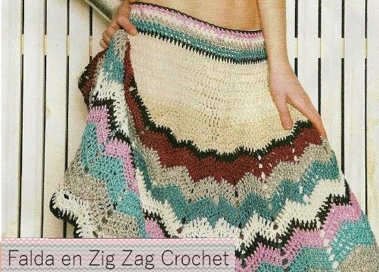 Falda Crochet Zig Zag Patron