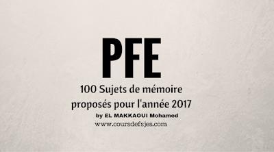 100 Sujets de mémoire de fin d'étude 2017