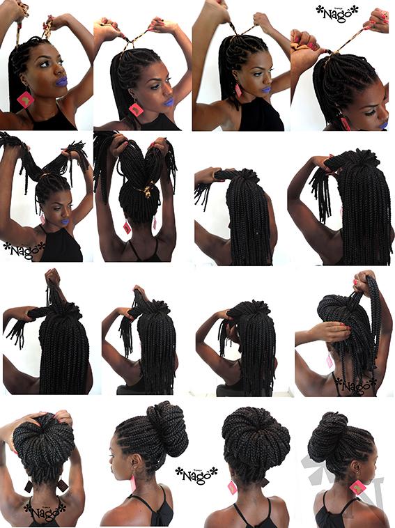 Well-known Trança *Nagô*: Como fazer um coque usando box braids (rastafari)? OV41