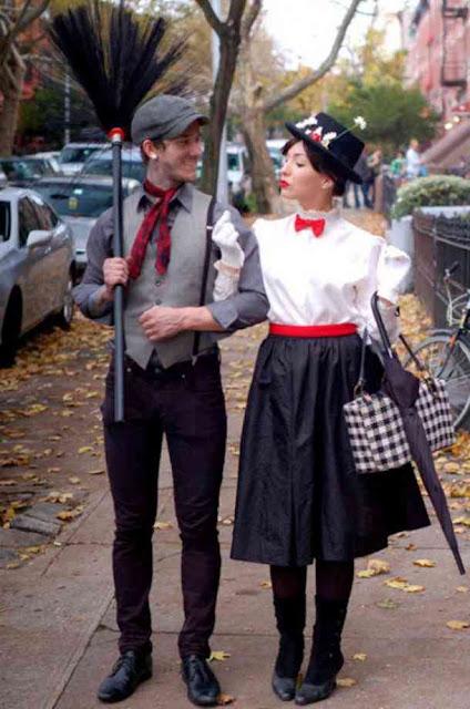 Bert y Mary Poppins de Mary Poppins disfraz parejas