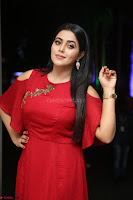 Poorna in Maroon Dress at Rakshasi movie Press meet Cute Pics ~  Exclusive 09.JPG