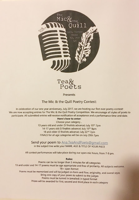 poems, poetry, contest, poetry contest, Tea and Poets