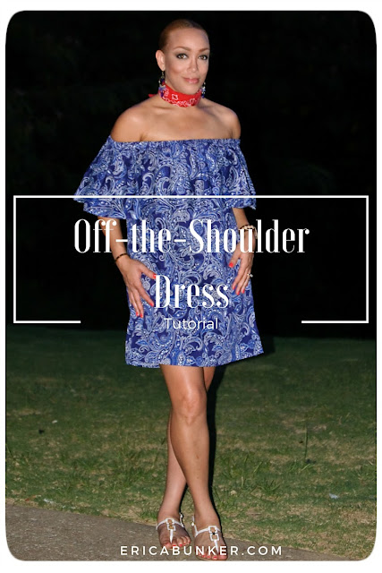 Off-the-Shoulder Dress Tutorial - Erica Bunker DIY Style!