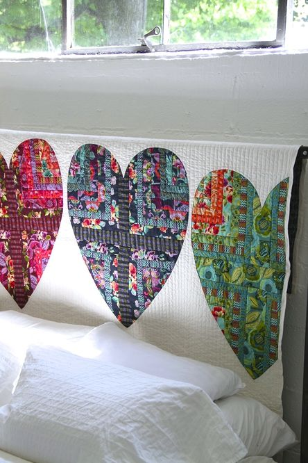Bright Heart Cotton Quilt Free Pattern