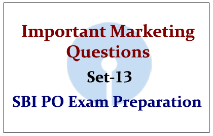 Important Marketing Questions- Set 13