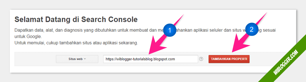 Menambahkan blog di google search console
