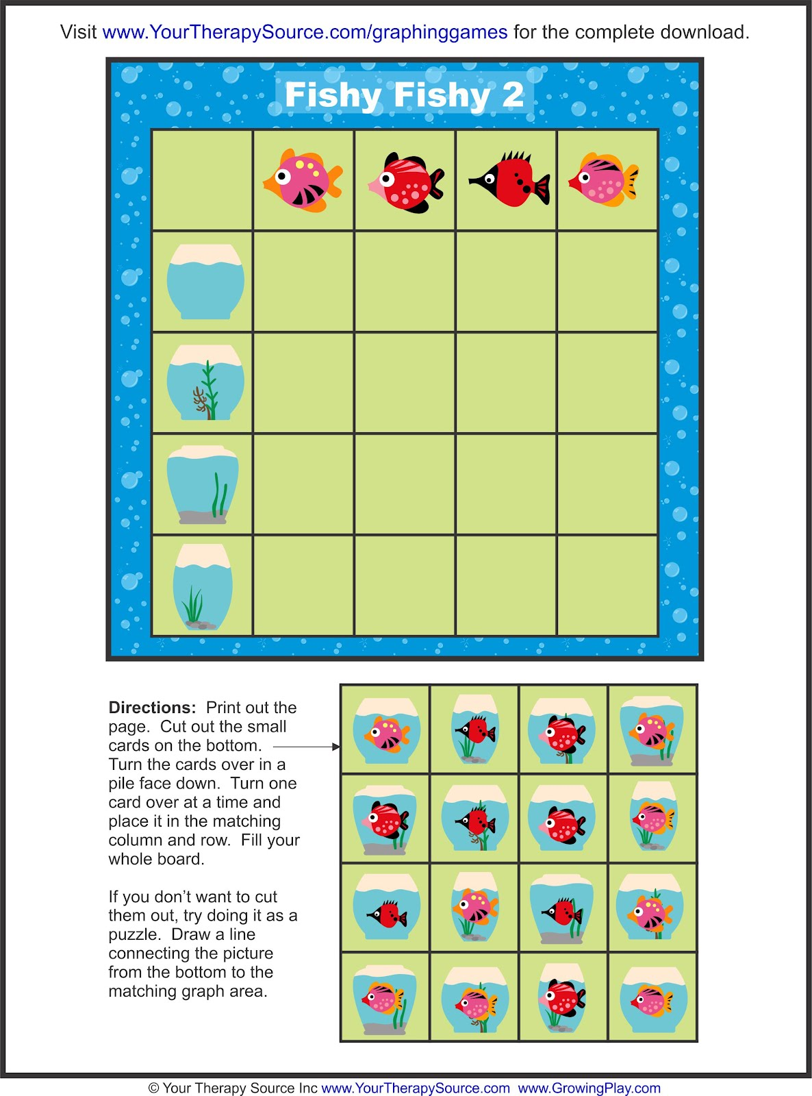 Free Graphing Game Your Therapy Source