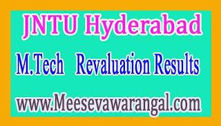 JNTU Hyderabad M.Tech 1st / 2nd Sem R09 / R13 /R15 August 2016 Revaluation Results
