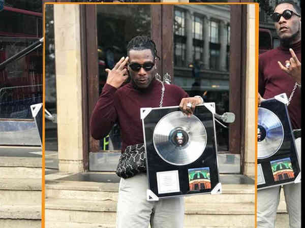 O2 Academy Presents Burna Boy Plaque For Sold Out Show
