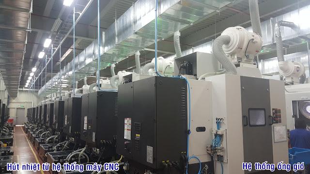 hệ thống ống gió máy CNC