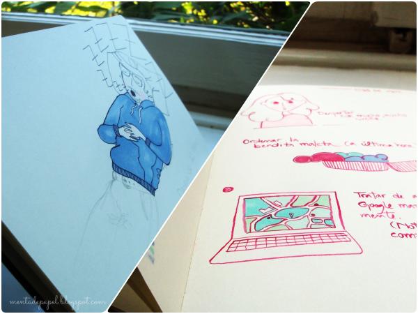 Dibujos en el Sketchbook Moleskine