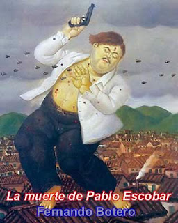 La morte di Pablo Escobar (Dipinto di Fernando Botero)