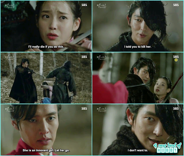 hae so being hostage by assassin and then 4th prince, 8th prince come top rescue hae so - Moon Lovers: Scarlet Heart Ryeo - Episode 2 Review