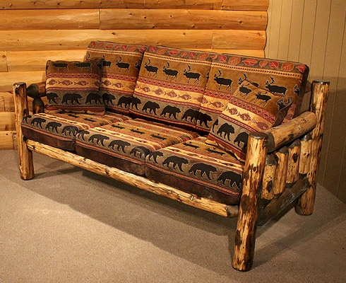 Rustic Log Couches And Futons