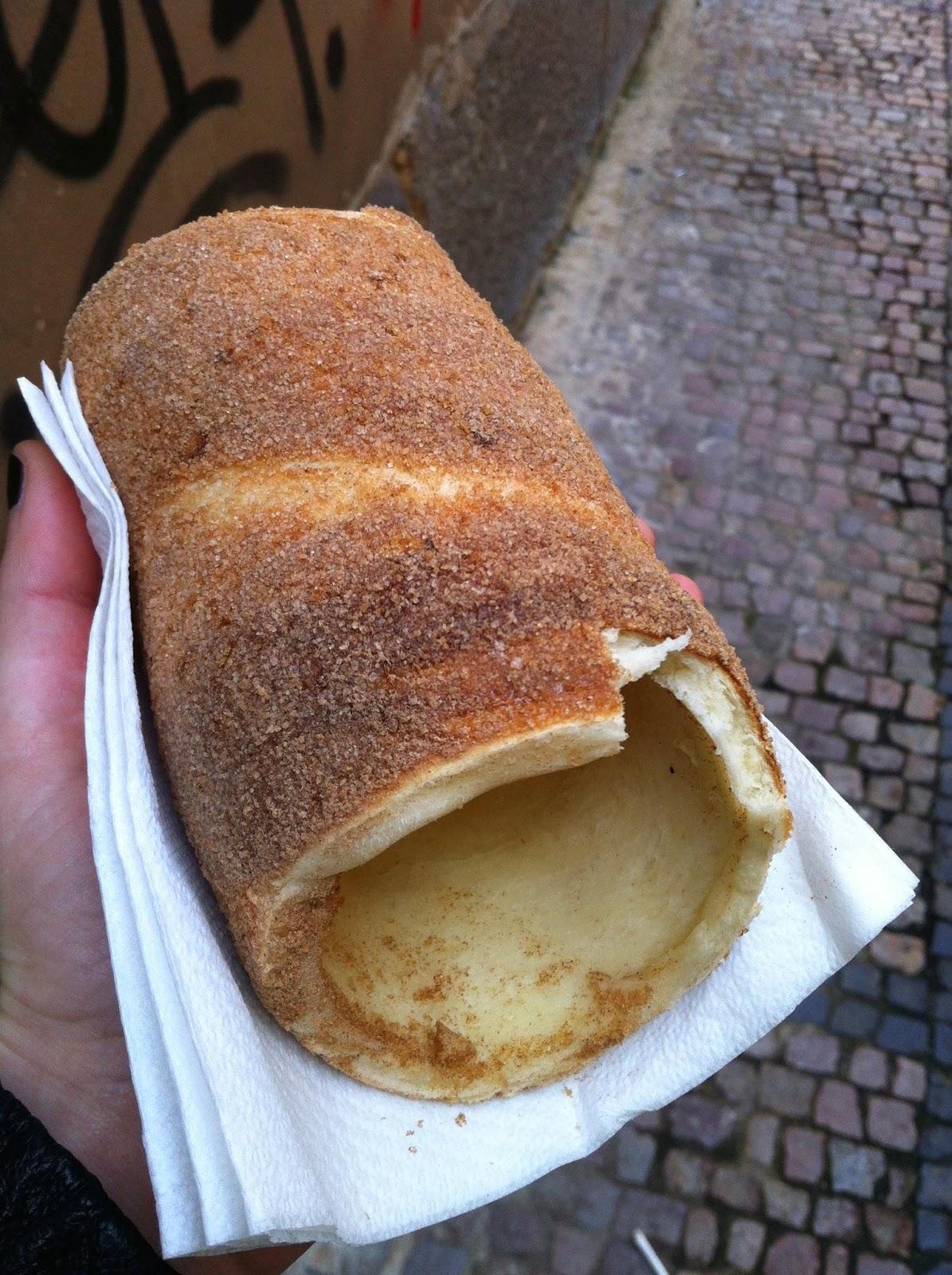 a trdelnik pastry in Prague