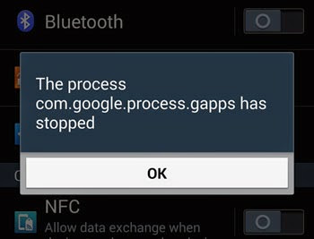 How to Fix Android error message: com.google.process.gapps has stopped