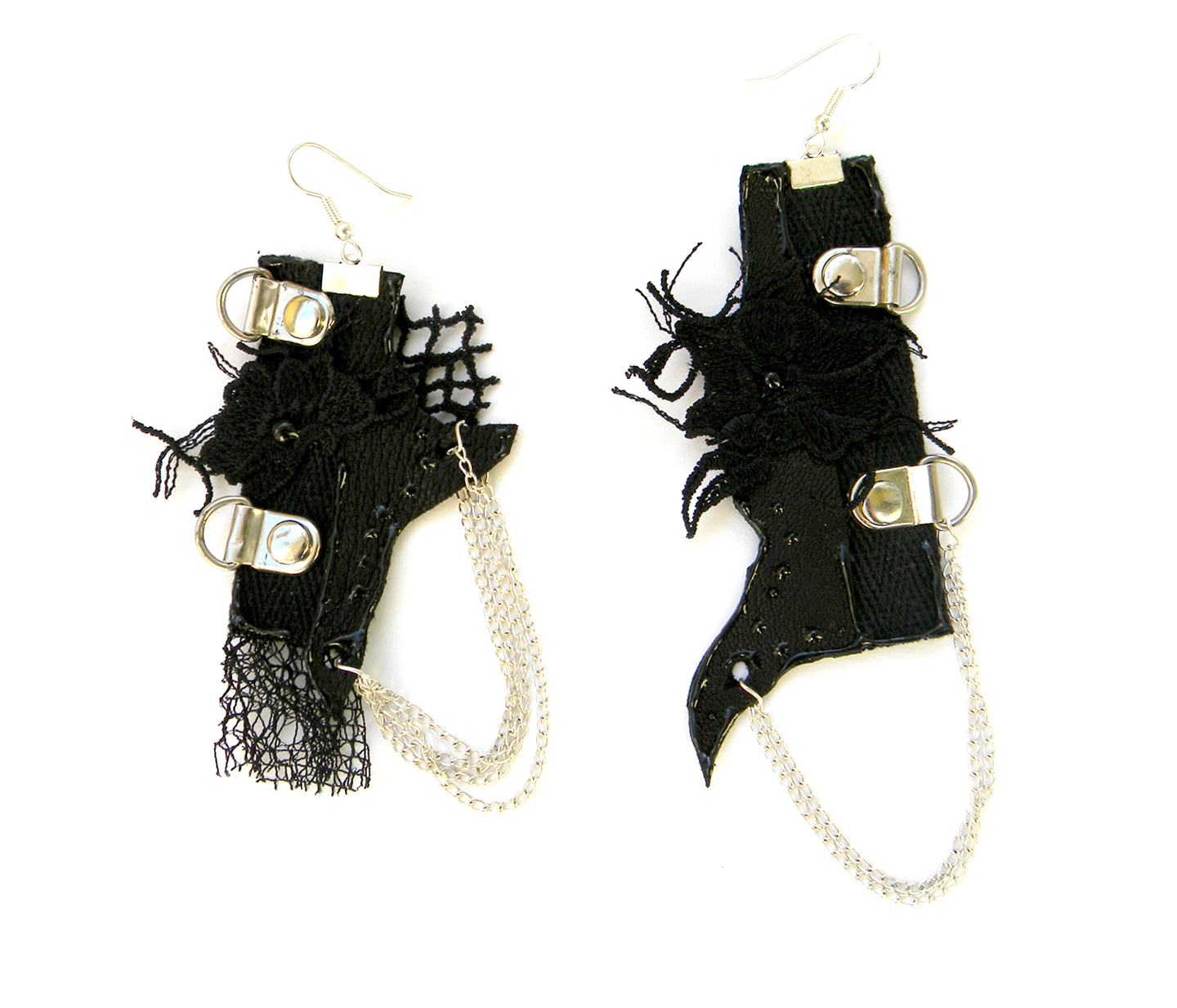 Handmade Earrings Steampunk Gothic Jewelry