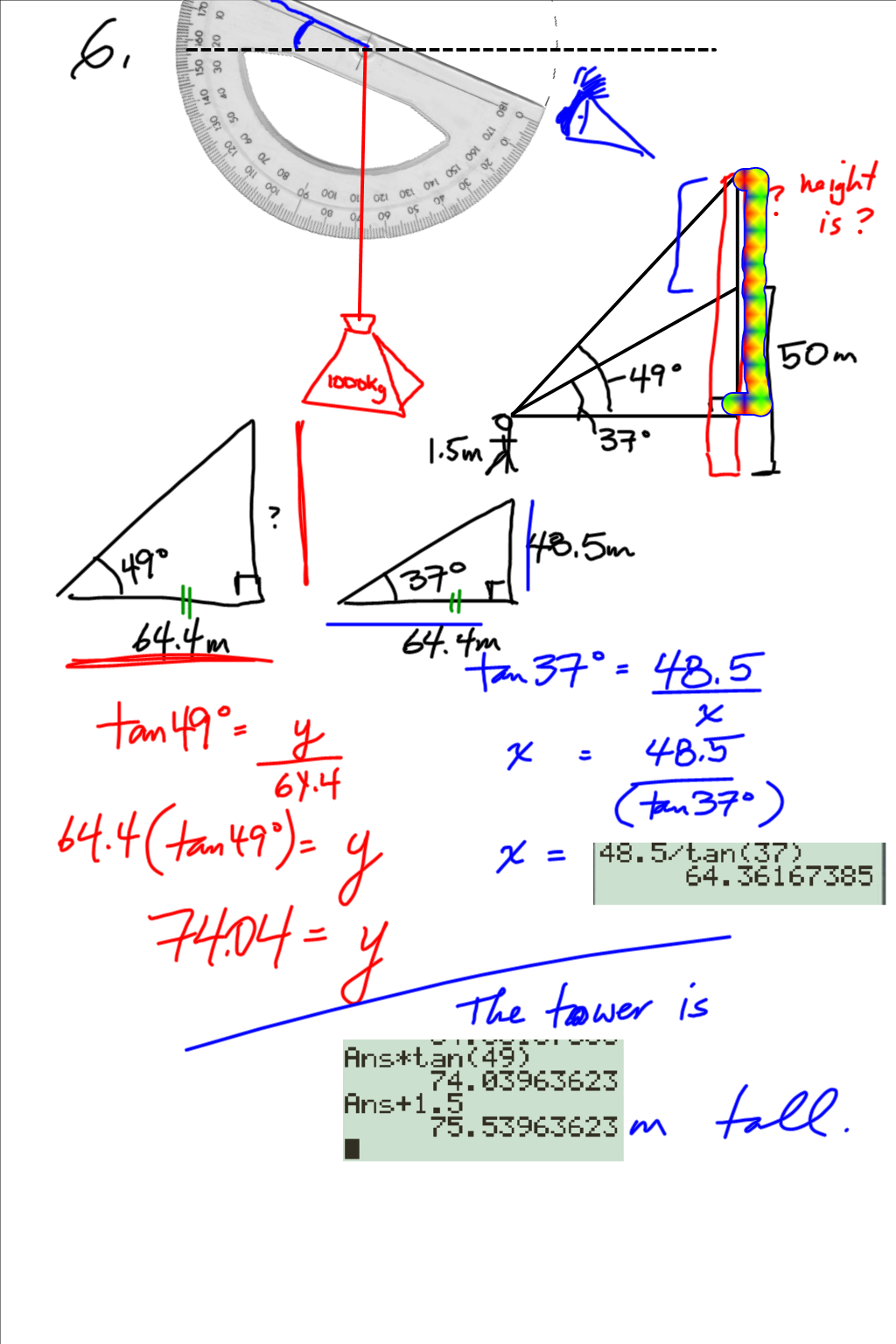 Grade 10 Applied Precalculus Cheetah Trigonometry Test Review
